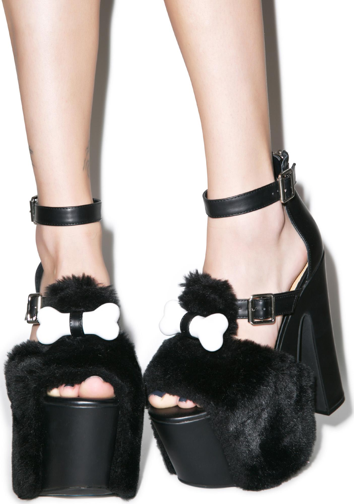 Dolly Bae Bad To The Bone Platform Heels