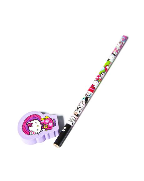 x Hello Kitty Geisha Pencil