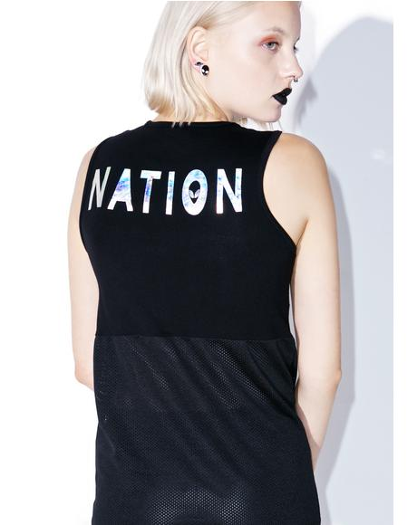 Alien Nation Mesh Crop