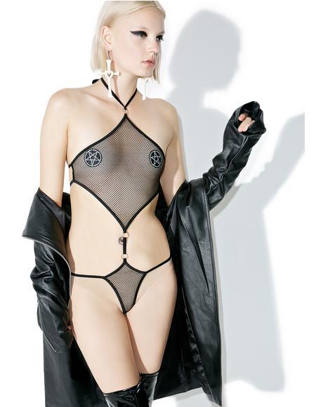Diamond Club Mesh Bodysuit