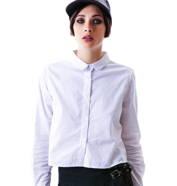 Mink Pink Proper Prep Button Shirt