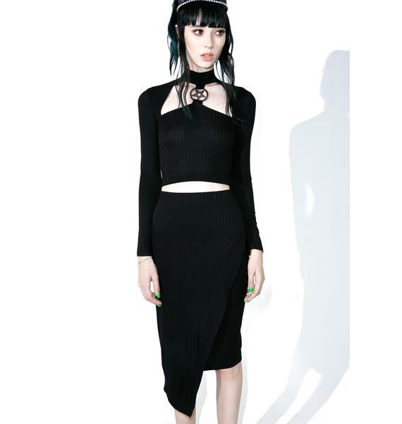 Killstar Get Busy Midi Skirt