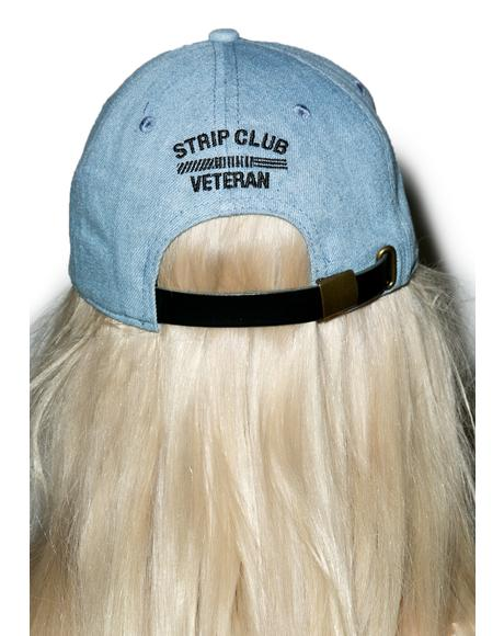 Denim Strip Club Veteran Dad Hat
