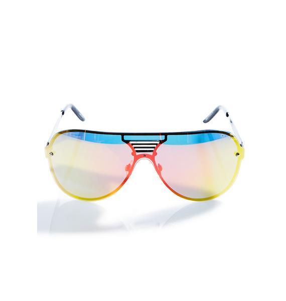 Quay Eyeware Pink Showtime Sunglasses