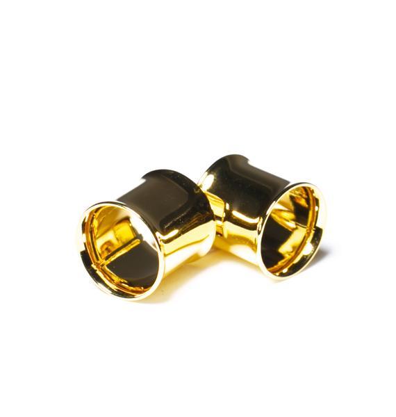 Glam Gold Gauged Plugs