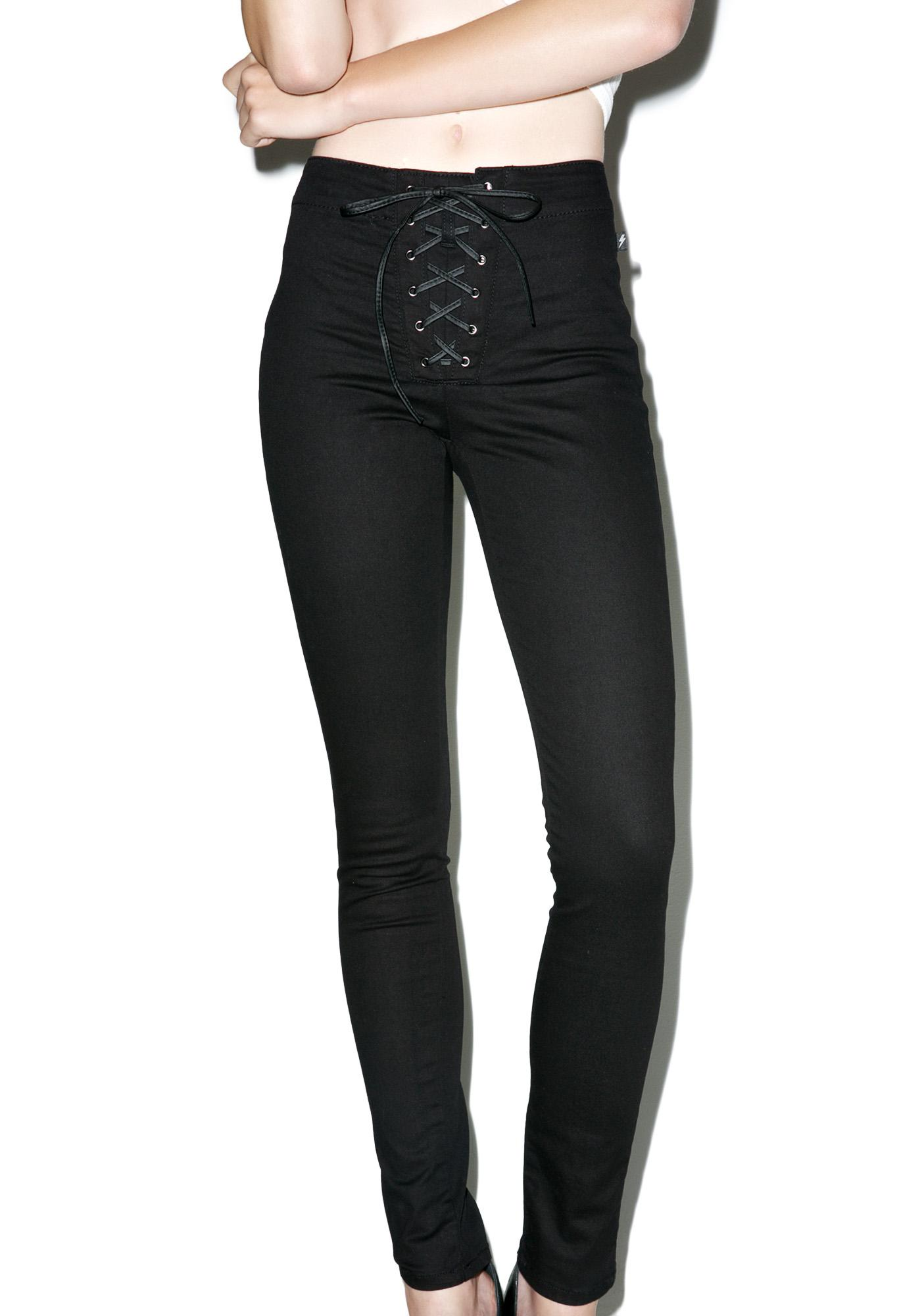 Tripp NYC High Waisted Corset Pants