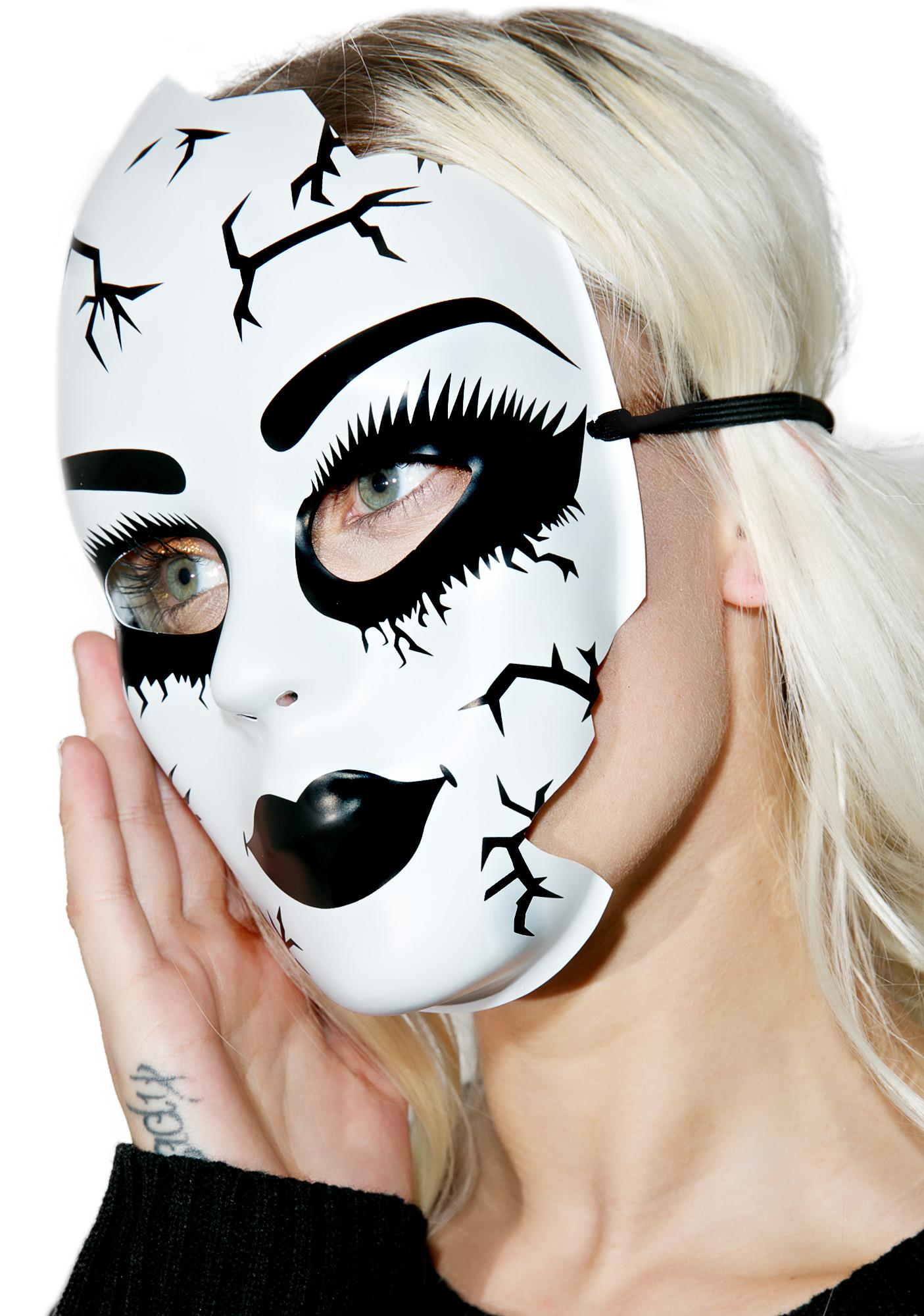 Porcelain Poltergeist Mask