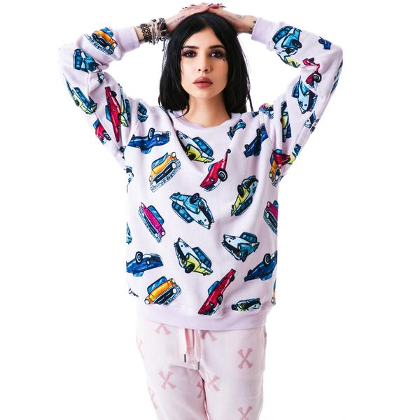 Joyrich Car Camp Crew Pullover Sweatshirt