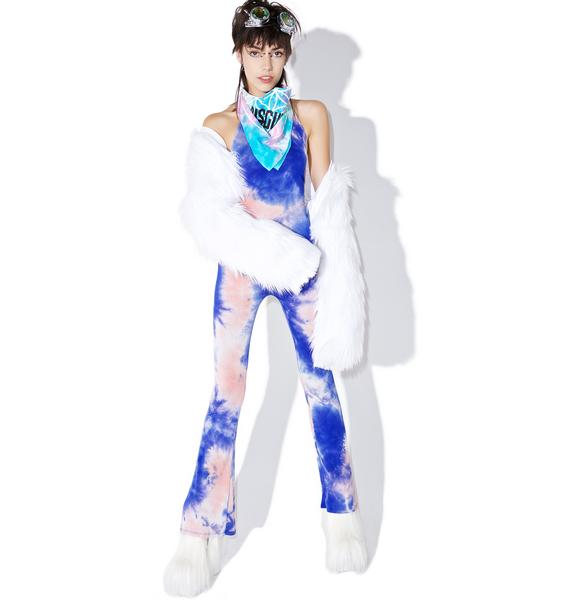 Day-Glo Babe Halter Jumpsuit