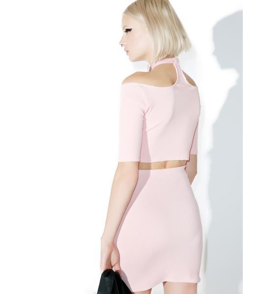 one spo Candy Heart Belt Mini Skirt