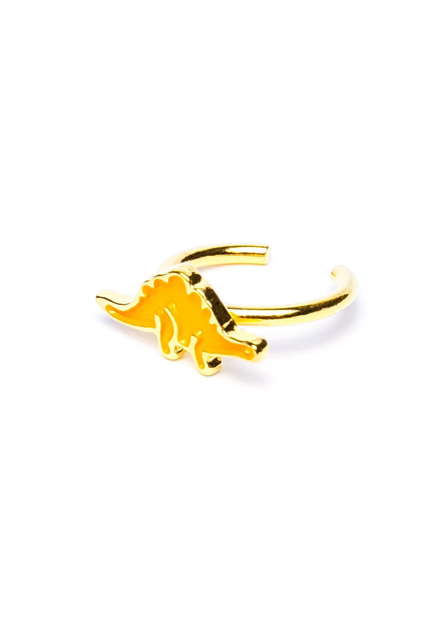 Joyrich x Giza Dinosaur Stegosaurus Micro Fingertip Ring