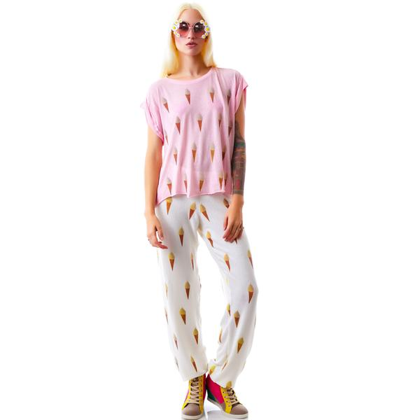 Wildfox Couture Breakfast Everywhere Jagged Edge Tee