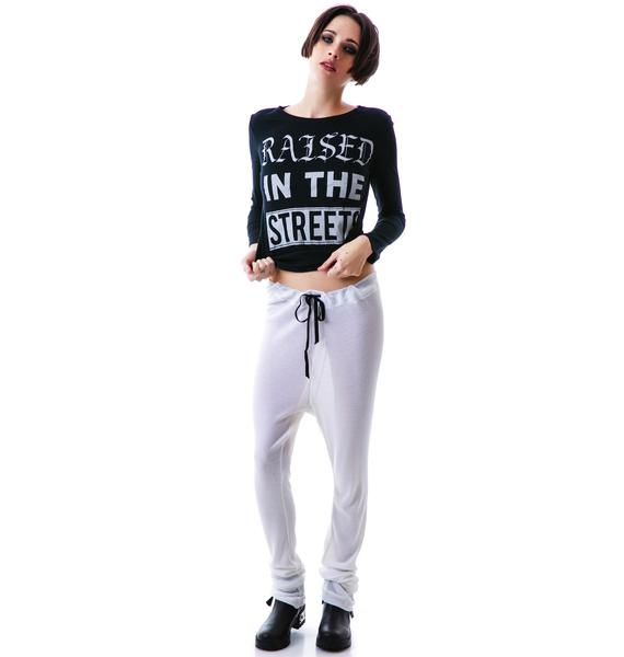 Obesity and Speed Baby Thermal Draped Sweatpants