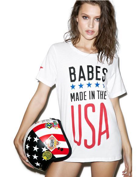 USA Babes Oversize Tee