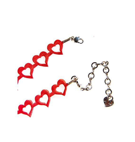 Love And Madness Lovely Heart Choker