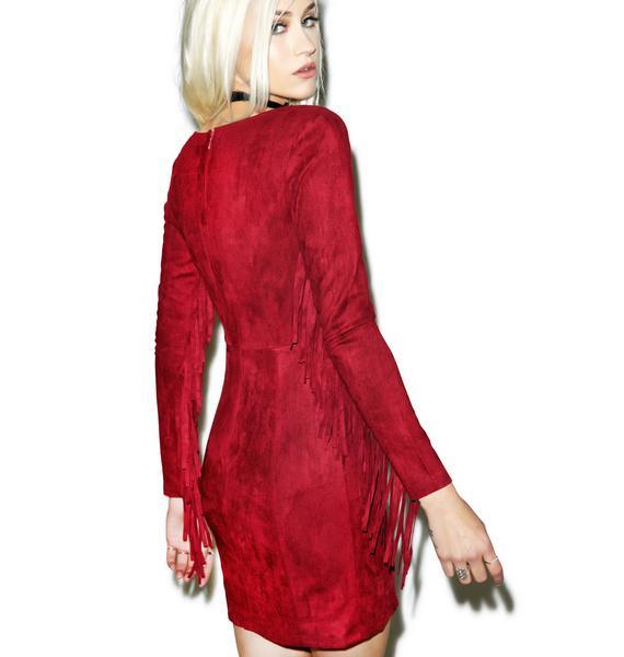 Red Rock Fringe Dress