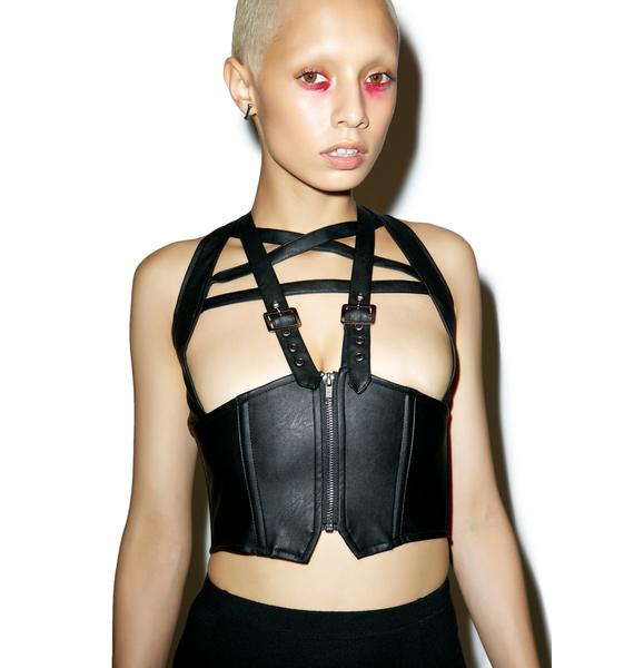 Killstar No Mercy Pentagram Harness