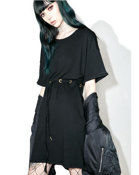 Bonded Drawstring Dress