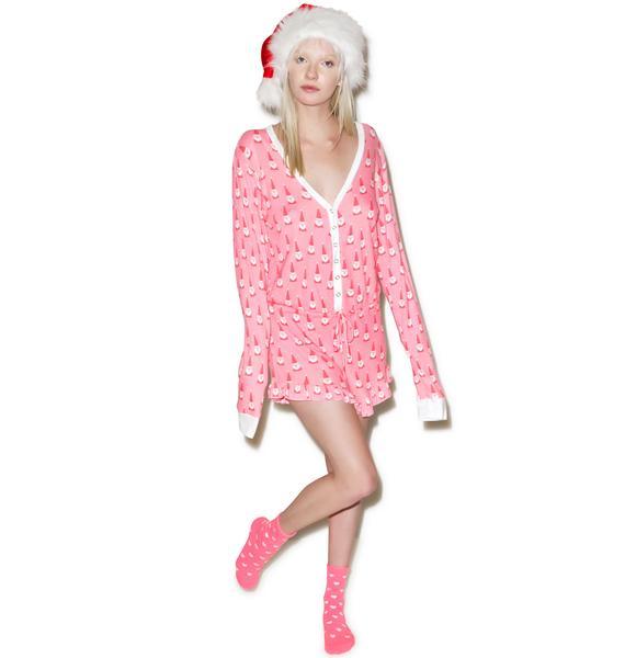 Wildfox Couture Santa Gnomes Ye Rustic Romper