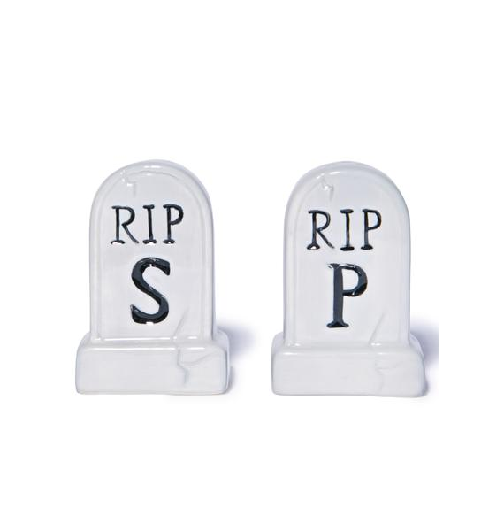 Sourpuss Clothing Tombstone Salt and Pepper Shakers