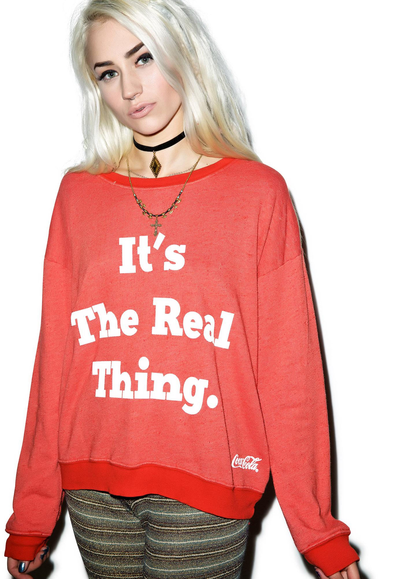 Wildfox Couture The Real Thing Pullover Oversized Sweatshirt