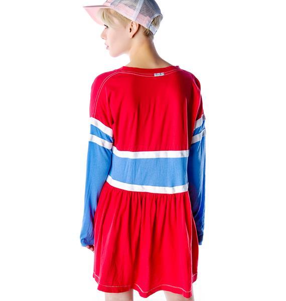 Rebel Yell RY Sidelines Babydoll Dress