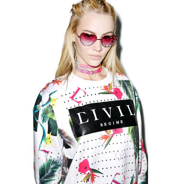 Civil Clothing Floral Crewneck
