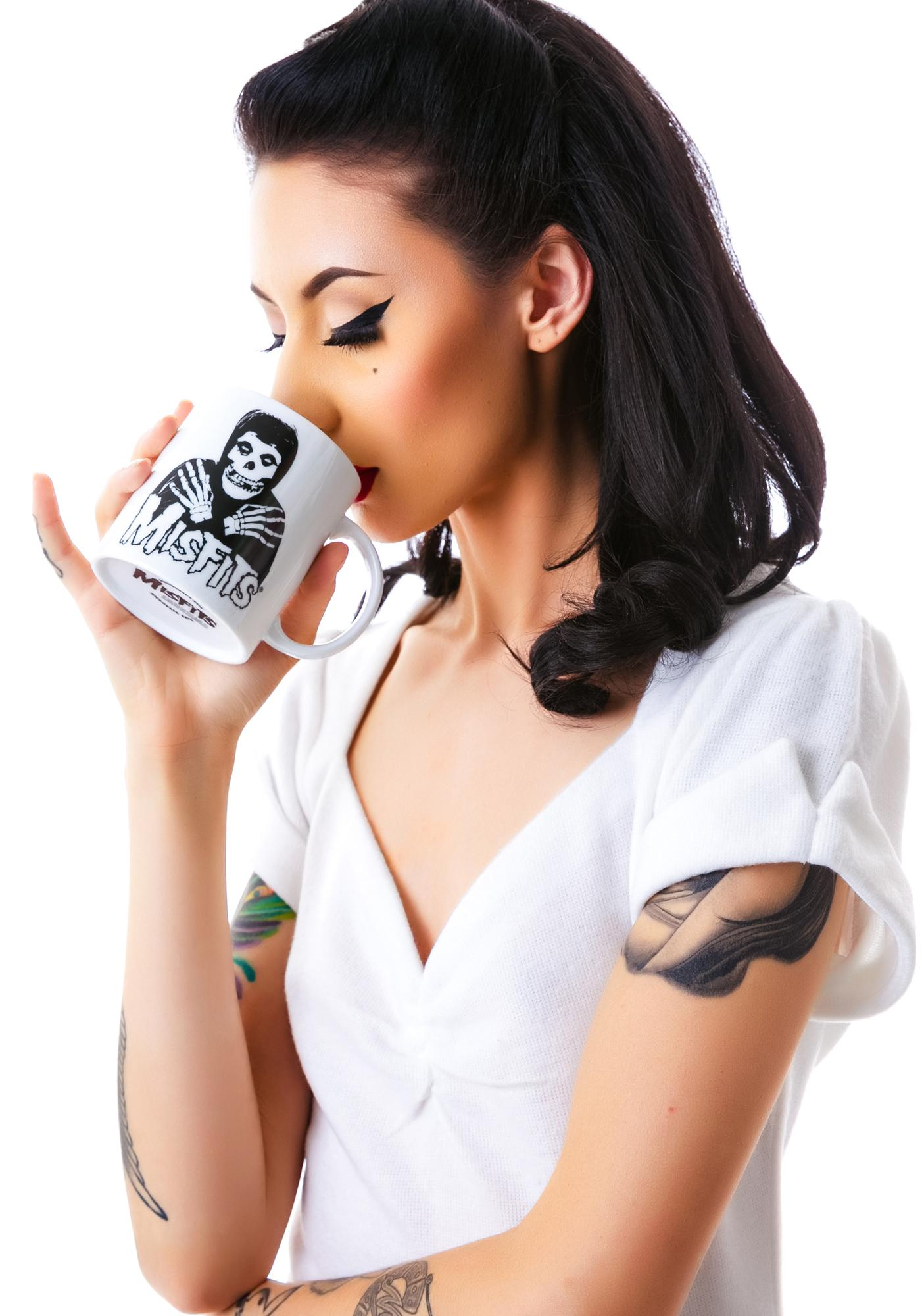 Sourpuss Clothing Misfits Skeleton Hands Mug