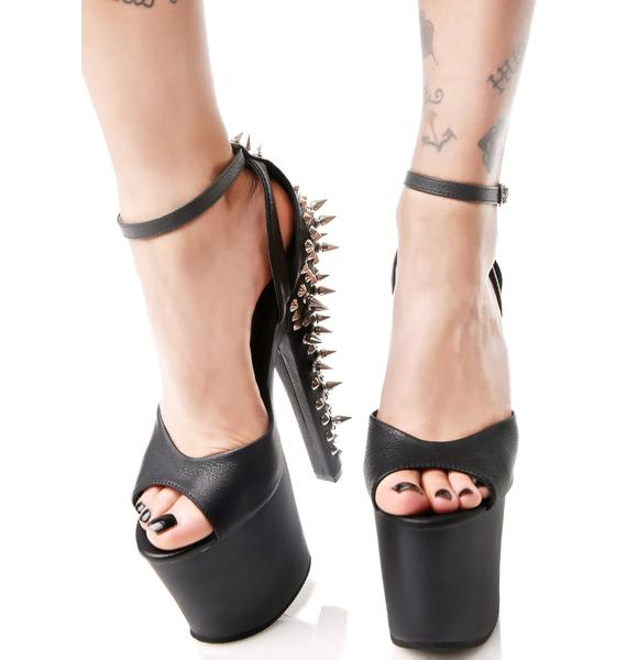 Pleaser Fury Spiked Platform Heels