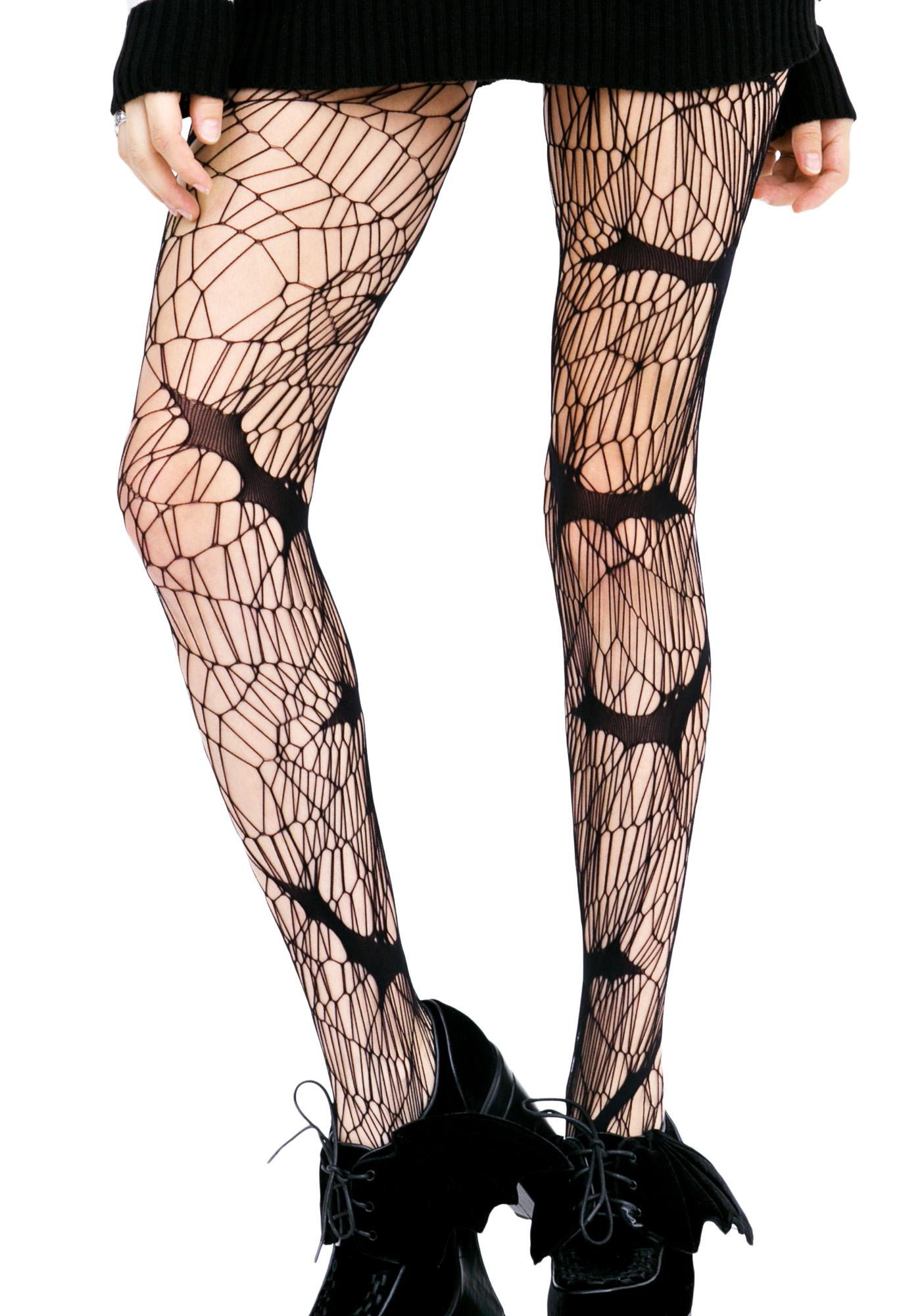 Vampire Diary Bat Tights