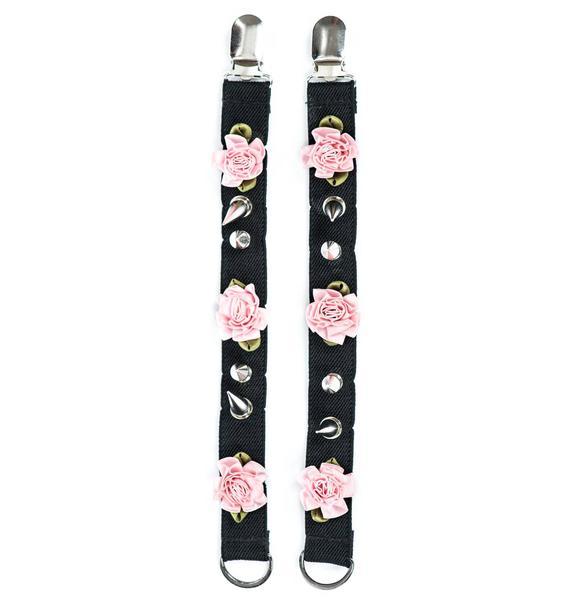 Spikes and Flower Shoe Garter