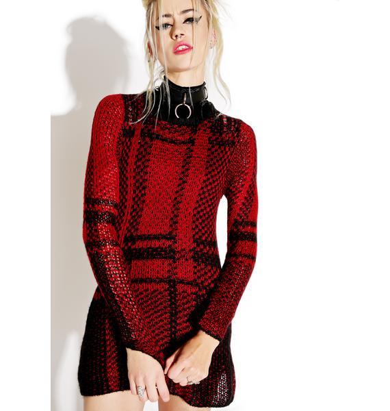 Tripp NYC Classic Plaid Sweater