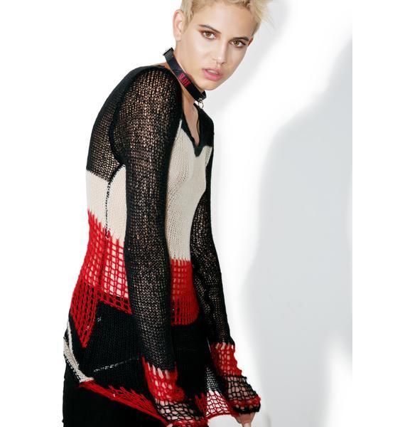 Tripp NYC Striped Punk Sweater