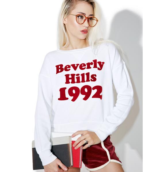 Wildfox Couture Bev Hills 1992 Sloan Sweatshirt