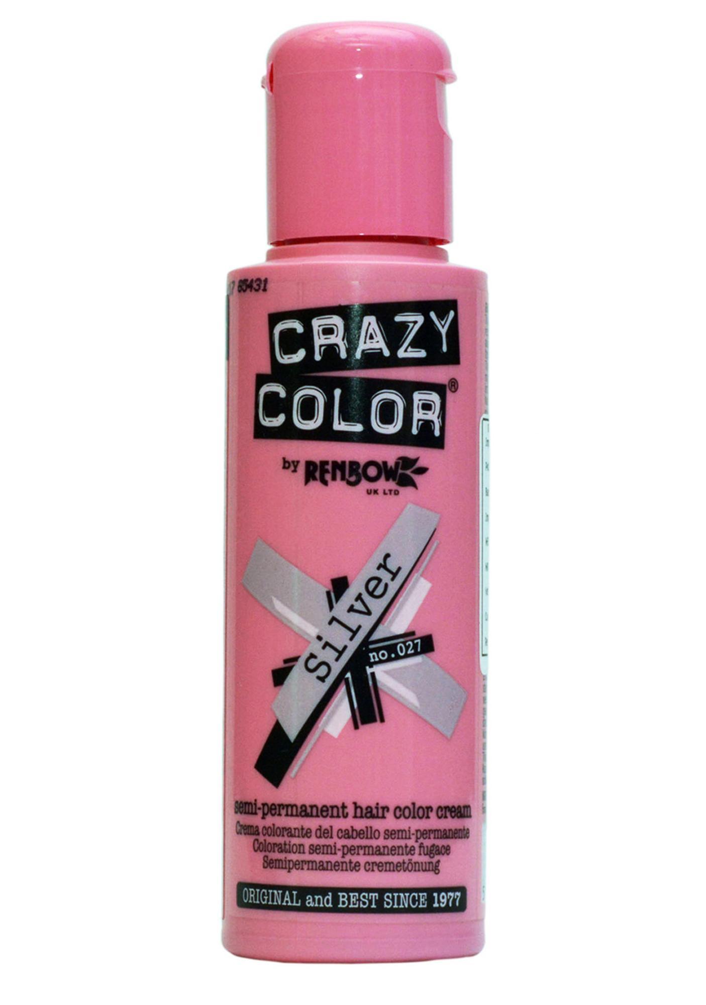 Crazy Color Silver Hair Dye