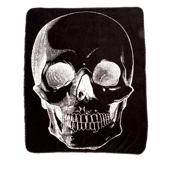 Sourpuss Clothing Skull Fleece Blanket