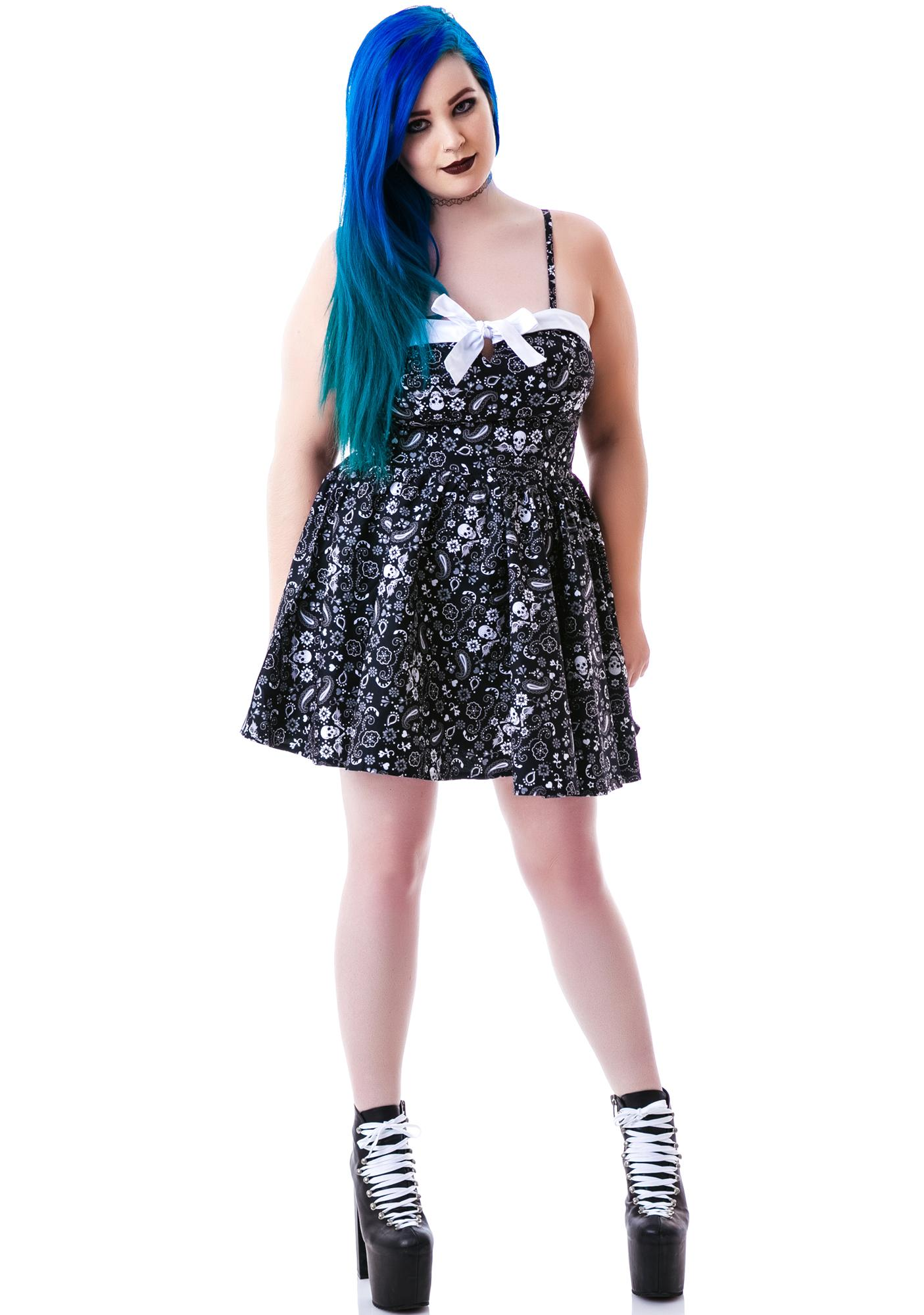 Hell Bunny Saloon Hearts Bandana Dress