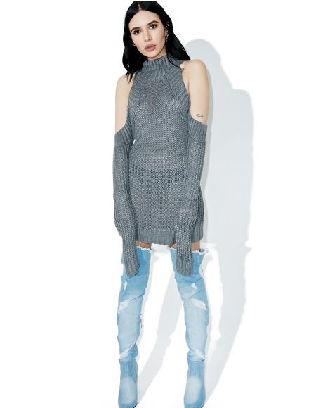 Unfaithful Open Shoulder Sweater