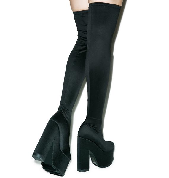 Y.R.U. Labyrinth Thigh High Platform Boots