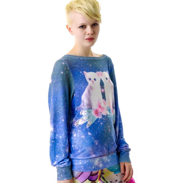 Wildfox Couture Fortunates Fool Baggy Beach Jumper