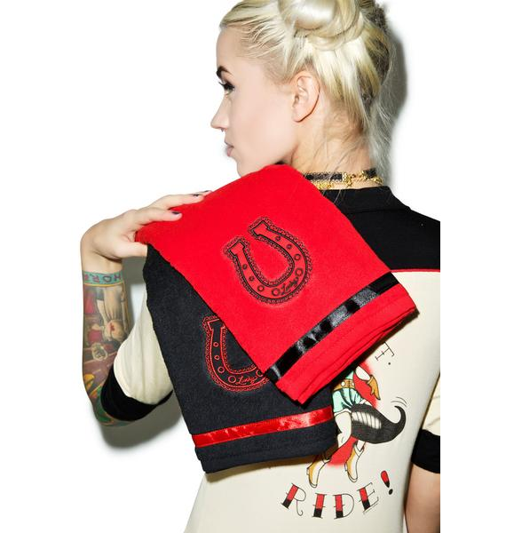 Sourpuss Clothing Lucky Horseshoe Towel Set
