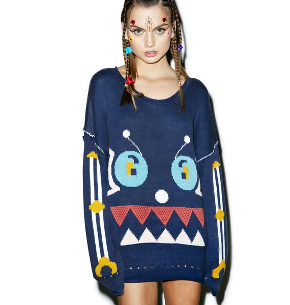 Wildfox Couture Robot Friend Bloomy Sweater