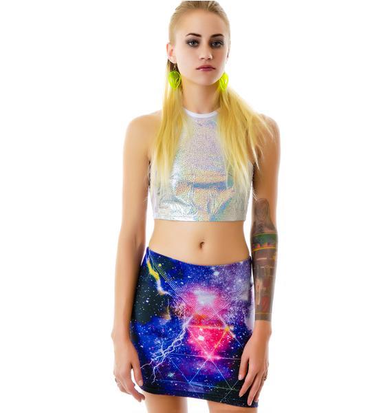 Bam Bam Nebula Trance Mini Skirt