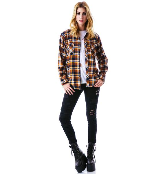 Jac Vanek Music is the Answer Flannel Shirt