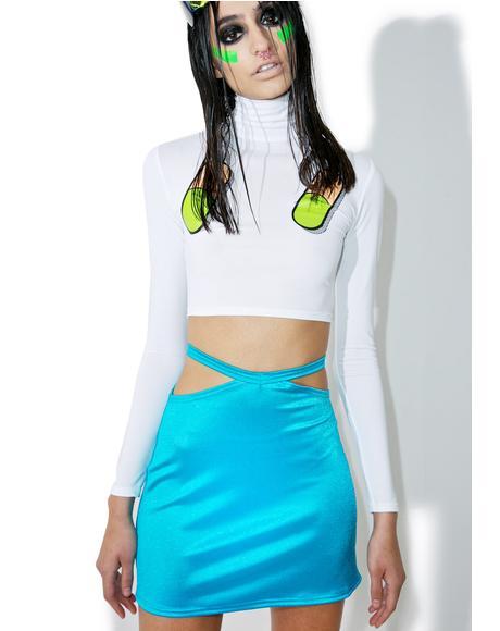 Peep Show Mini Skirt
