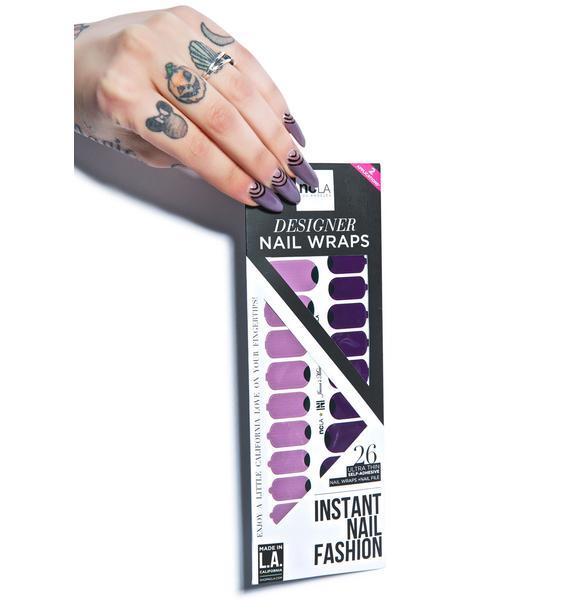 NCLA Jenna's Mauve Moon Nail Wraps