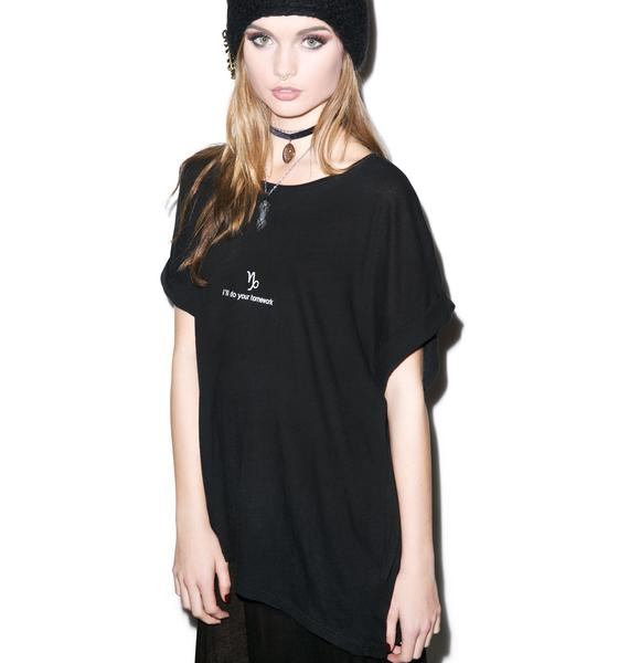 Wildfox Couture Capricorn Astrology Boy Tee