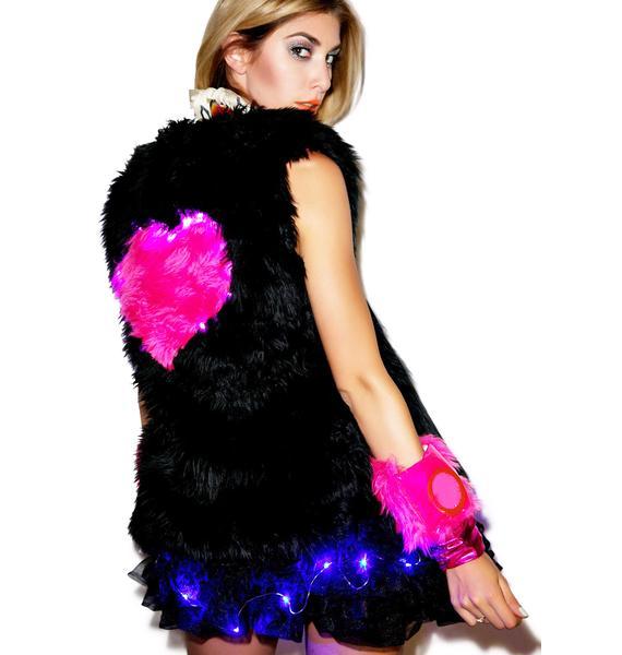 J Valentine Heart Beat Light Up Long vest
