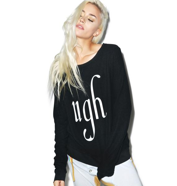 Wildfox Couture Big Ugh Baggy Beach Jumper