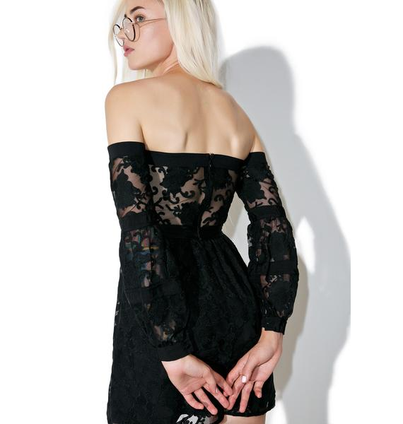 For Love & Lemons Jolene Off-Shoulder Dress